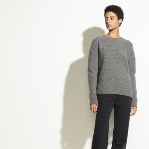 NWT Vince Side Slit Ribbed Sweater Gray M